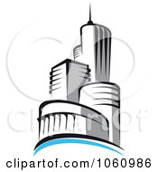 Royalty Free Vector Clip Art Illustration Of A Skyscraper Logo 5 by Vector Tradition SM
