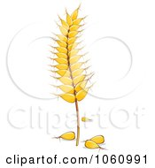 Royalty Free Vector Clip Art Illustration Of A Strand Of Wheat 4 by Vector Tradition SM