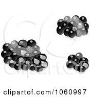 Royalty Free Vector Clip Art Illustration Of A Digital Collage Of 3d Black Caviar