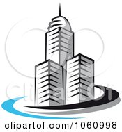 Royalty Free Vector Clip Art Illustration Of A Skyscraper Logo 6 by Vector Tradition SM