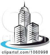 Royalty Free Vector Clip Art Illustration Of A Skyscraper Logo 6 by Vector Tradition SM