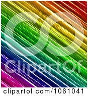 Background Of Textured Rainbow Brush Strokes Royalty Free CGI Clip Art Illustration