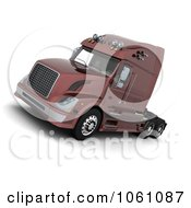 3d Semi Big Rig Truck Royalty Free CGI Clip Art Illustration
