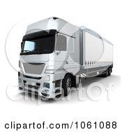 3d Euro Truck Big Rig Royalty Free CGI Clip Art Illustration