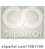 Beautiful Beige Patterned Certificate Background Royalty Free Vector Clip Art Illustration