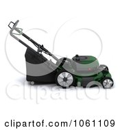 3d Green Lawn Mower Royalty Free CGI Clip Art Illustration by KJ Pargeter