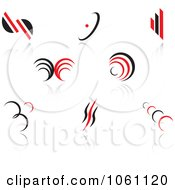 Royalty Free Vector Clip Art Illustration Of A Digital Collage Of Red And Black Logo Designs 5