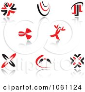 Royalty Free Vector Clip Art Illustration Of A Digital Collage Of Red And Black Logo Designs 11