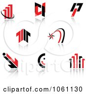 Royalty Free Vector Clip Art Illustration Of A Digital Collage Of Red And Black Logo Designs 1 by Vector Tradition SM