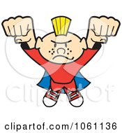 Clipart Punk Super Hero Flying Forward Royalty Free Heroine Vector Illustration