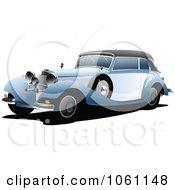 Vintage Blue Car Royalty Free Automotive Vector Illustration