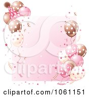 Clipart Birthday Party Frame In Brown And Pink Royalty Free Heroine Vector Illustration