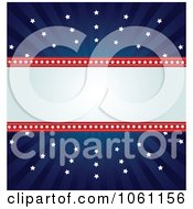 Clipart Independence Day Background Of Stars And Copyspace Royalty Free Heroine Vector Illustration