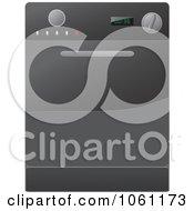 Royalty Free Vector Clip Art Illustration Of A Black Kitchen Range Oven