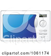 Royalty Free Vector Clip Art Illustration Of A White Microwave