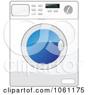 Royalty Free Vector Clip Art Illustration Of A White Front Loader Washing Machine by Vector Tradition SM