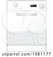 Royalty Free Vector Clip Art Illustration Of A White Kitchen Range Oven