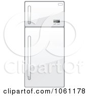 Royalty Free Vector Clip Art Illustration Of A 3d Shiny White Refrigerator