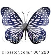 Royalty Free Vector Clip Art Illustration Of A Purple Butterfly Logo