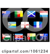 Royalty Free Vector Clip Art Illustration Of A Digital Collage Of 3d Shiny Flag Icons 3 by Vector Tradition SM