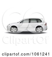 Royalty Free Vector Clip Art Illustration Of A Side View Of A 3d SUV Car