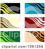 Royalty Free Vector Clip Art Illustration Of A Digital Collage Of Business Card Or Background Designs 1