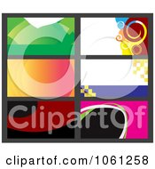 Royalty Free Vector Clip Art Illustration Of A Digital Collage Of Business Card Or Background Designs 12