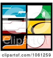 Royalty Free Vector Clip Art Illustration Of A Digital Collage Of Business Card Or Background Designs 4