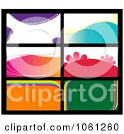 Royalty Free Vector Clip Art Illustration Of A Digital Collage Of Business Card Or Background Designs 10