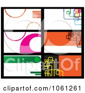 Royalty Free Vector Clip Art Illustration Of A Digital Collage Of Business Card Or Background Designs 13