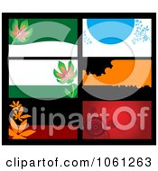 Royalty Free Vector Clip Art Illustration Of A Digital Collage Of Business Card Or Background Designs 15