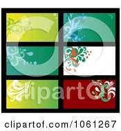Royalty Free Vector Clip Art Illustration Of A Digital Collage Of Business Card Or Background Designs 17 by Vector Tradition SM