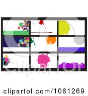 Royalty Free Vector Clip Art Illustration Of A Digital Collage Of Business Card Or Background Designs 14 by Vector Tradition SM