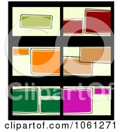 Royalty Free Vector Clip Art Illustration Of A Digital Collage Of Business Card Or Background Designs 16 by Vector Tradition SM