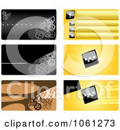 Royalty Free Vector Clip Art Illustration Of A Digital Collage Of Business Card Or Background Designs 5 by Vector Tradition SM