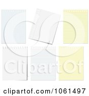 Royalty Free Vector Clip Art Illustration Of A Digital Collage Of Ruled Black And Graph Paper Pages