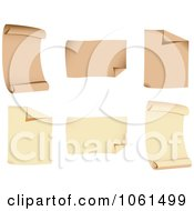 Royalty Free Vector Clip Art Illustration Of A Digital Collage Of 3d Scrolls And Pages by Vector Tradition SM