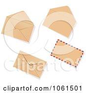Royalty Free Vector Clip Art Illustration Of A Digital Collage Of 3d Brown Envelopes