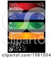 Royalty Free Vector Clip Art Illustration Of A Digital Collage Of Five Colorful Floral Website Banner Designs 3
