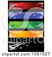 Royalty Free Vector Clip Art Illustration Of A Digital Collage Of Five Colorful Floral Website Banner Designs 2