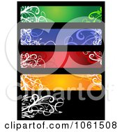 Royalty Free Vector Clip Art Illustration Of A Digital Collage Of Five Colorful Floral Website Banner Designs 1