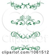Royalty Free Vector Clip Art Illustration Of A Digital Collage Of Green Floral Borders