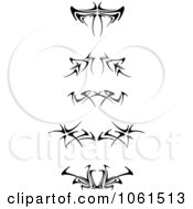 Royalty Free Vector Clip Art Illustration Of A Digital Collage Of Black And White Tattoo Borders