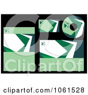 Royalty Free Vector Clip Art Illustration Of A Digital Collage Of Abstract Green Labels And Stationery by Vector Tradition SM