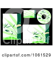 Royalty Free Vector Clip Art Illustration Of A Digital Collage Of Bamboo Labels And Stationery by Vector Tradition SM