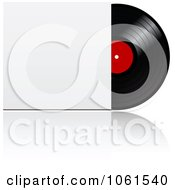 Royalty Free Vector Clip Art Illustration Of A 3d Vinyl Record With A Blank Sleeve