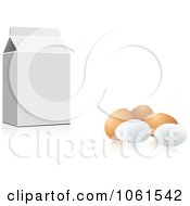 Royalty Free Vector Clip Art Illustration Of A 3d Carton And Eggs