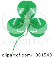 Royalty Free Vector Clip Art Illustration Of Dew On A Clover by Vector Tradition SM