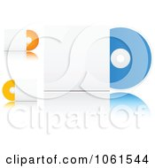 Royalty Free Vector Clip Art Illustration Of A Digital Collage Of 3d CDs With Sleeves