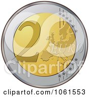 Royalty Free Vector Clip Art Illustration Of A 3d 2 Euro Coin